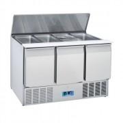 Saladette réfrigérée 2 & 3 portes - Froid positif -  0° à +8°C -2 & 3 portes GN1/1 - Puissance : 143 ou 230 W