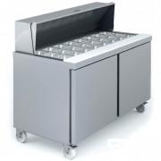 Saladette sur roulettes - Fabrication espagnole - Certification ISO 9001 et 14001 - Modèle : 1 - 2 - 3 - 4 portes