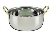 Saladier en inox - Dimensions : 22 ou 24 cm ø - Poids : 0.77 ou 0.87 kg - Inox 18/10