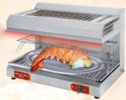 Salamandre professionnelle à gaz - Surface de cuisson : 800 x 400 mm