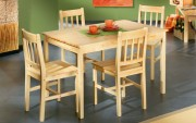 Salle à manger en bois - 4 chaises et Table: 117 x 78 x 75