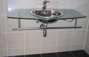 Salle de bains préfabriquée pour bureaux - Revêtement en pierre naturelle