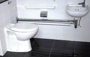 Salle de bains préfabriquée pour hôpital - Salle de bains modulaire avec plancher antidérapant