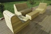 Salon de jardin en bois - Pin traité classe IV