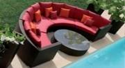 Salon de jardin exotique - Matériau en résine tressée