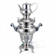 Samovar en acier inoxydable 5 L - Réservoir d'eau de 5 L