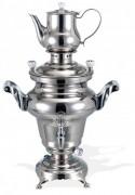 Samovar en inox poli miroir - Réservoir d'eau de 3 à 15 L