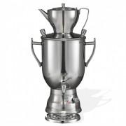 Samovar professionnel en inox - Réservoir d'eau de 3 à 8 L - Théière de 1.2  à 1.5 L