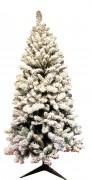 Sapin de Noël floqué 240cm - Hauteur : 1,5 - 1,8 - 2,1 ou 2,4 m - Usage intérieur