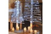 Sapin de noël lumineux - Hauteur : 60 ou 120 cm  -  Usage : intérieur