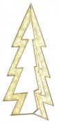 Sapin lumineux LED doré - Eclairage LED - Dim :  220 x 105 x 90 cm