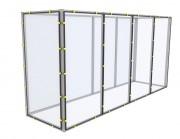 SAS de confinement - Profilés aluminium ou tubes Inox