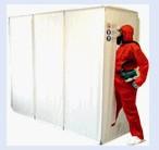 SAS de décontamination pour désamiantage 3 compartiments