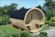 Sauna tonneau en bois - Épaisseur du bois de 28/42 mm