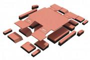 Sautoir modulaire à avancées - Dimensions : L 10.85 m x l 6 m