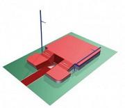 Sautoir monobloc saut à la perche - Dimensions : 9m00 x 6m30 x 0m80