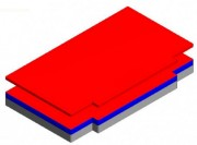 Sautoir semi modulaire taillé - Matière : Mousse alvéolée