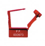 Scellé plastique type cadenas 7001 - Dimension platine (mm) : 15 x 26
