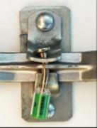 Scellé plomb pour conteneur maritime - Fermeture par pression de la main - en acier
