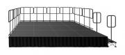 Scène légère professionnelle - Dimension des plateaux 1mx0.5m, 1mx1m, 2mx1m