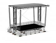 Scène mobile 80 m² - Capacité de charge répartie : 10 T