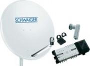 Schwaiger parabole 2satellites 2xquattro pour 4 abonnés - 942049-62