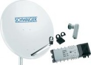 Schwaiger parabole 2satellites 2xquattro pour 8 abonnés - 942058-62