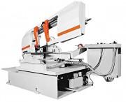 Scie à ruban semi automatique coupe biaise - Capacités de coupe jusqu'à 400 mm en rond