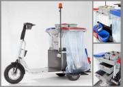 Scooter électrique de nettoyage - Triporteur destiné aux agents de nettoyage