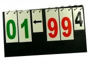 Scoreur pliable multisport - Dimension plié  49 x 28 cm - De 0 à 99 + flèches