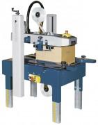 Scotcheuse cartons mono-format - Entrainement inférieur et superieur automatique de la caisse carton par bandes caoutchouc
