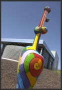 Sculpture artistique exterieure