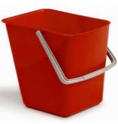 Seau en polyéthylène pour nettoyage - Capacité : 18 litres - Dimensions (L x l x H) cm :  33 x 27 x 32