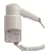 Sèche cheveux flexible électrique pour hôtellerie - Activation : Bouton-poussoir - Vitesse d'air : 65 Km/h