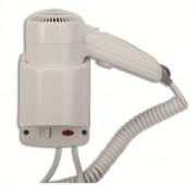 Sèche cheveux pour hôtel - Activation : Par pression sur le bouton - Vitesse d'air : 65 km/h