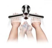 Sèche-mains à robinet en inox brossé - Court, surélevé ou mural - À air pulsé