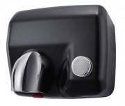 Sèche-mains en acier noir - Puissance : 2300W - Niveau sonore : 70 dB - Temps de séchage : 15 à 20 secondes