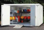 Sécuritainer de stockage isolé 2 portes - Capacité de charge sur le caillebotis : 1000 kg/m²