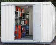 Sécuritainer de stockage isolé une porte - Capacité de charge sur le caillebotis : 1000 kg/m²