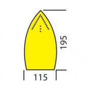 Semelle anti-lustre - Dimensions (Lxl) mm : 220 x 115
