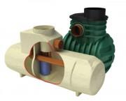 Séparateur d'hydrocarbures By pass - Volume boues  : 300 - 600  L