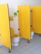 Séparateur urinoirs en bois stratifié - Séparateurs en stratifié résistants à l'humidité et chocs