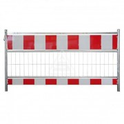 Barrière de voie de chantier - Longueur: 1,60 m