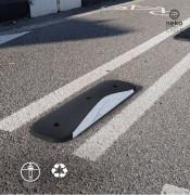 Séparateur de voie pour piste cyclable - Fabriqué en PVC recyclé de moyenne densité