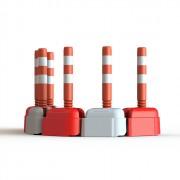 Séparateur de voies en caoutchouc - Dimensions (L x l x H) mm : 315 x 308 x 150