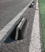Séparateur en crête de piste cyclable - Fabriqué en PVC recyclé de moyenne densité