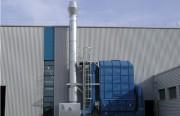 Séparation des brouillards d'hulie 16.000 m3 par heure - Implantation compacte Dèbit 16.000 m3/h