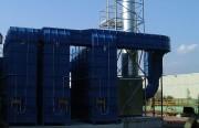 Séparation des brouillards d'hulie implantation compacte 45.000 m3 par heure - Dèbit 45.000 m3/h
