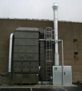 Séparation des brouillards d'hulie implantation compacte 6.000 m3 par heure - Dèbit 6.000 m3/h