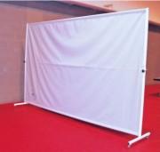 Séparations mobiles - En Métal poudré blanc, Bâche PVC